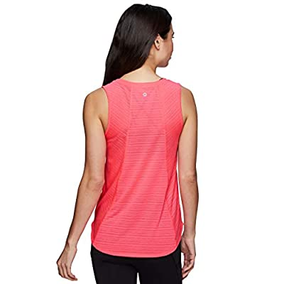 RBX Active Women's Sleeveless Athletic Performance Running Workout Yoga Tank Top with Mesh Ventilation: Clothing