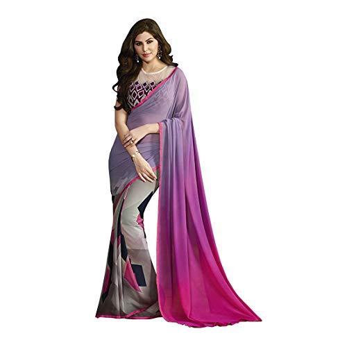 Indian ashirya5068sssr1t Printed Retails Shaily Sarees blue Export Handicrfats Women's Georgette Blue z1wrz0