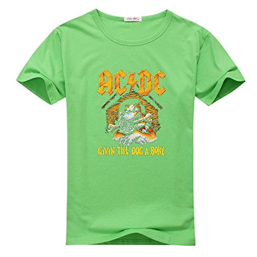 AC DC Poster Flag Givin The Dog A Bone for boys/girls Printed Short Sleeve Tee ()