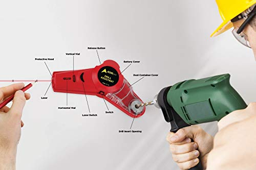 WWX Drill Buddy Cordless Dust Collector with Laser Level and Bubble Vial