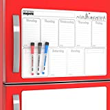 Big Weekly Dry Erase Boards for Homework Organization 2019 - Week Schedule Whiteboard Magnetic To Do List Fridge Magnet Planner  - Family Large Smart Message Marker Planning Pad Magnets for Kitchen