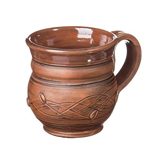 (Coffee mug 11.8 oz Pottery mug Handmade cup Rustic coffee mug Stoneware mug Ceramic mug)