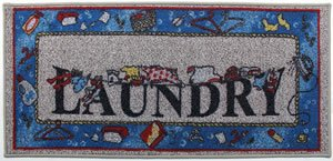"""Laundry Rug - """"Laundry Time"""" - Decorative Laundry Mat by"""