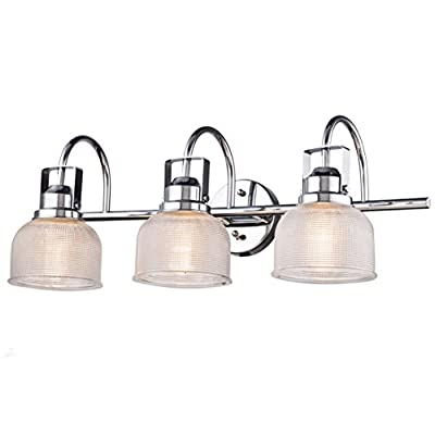 Dazhuan Industrial Vintage Glass Wall Lighting with 3-Lights Chrome Finish Wall Lamp Sconces