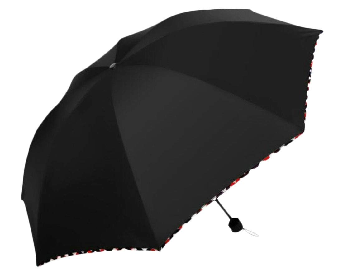 omniscient Compact Lightweight Outdoor Umbrella, Mini Travel Windproof Umbrellas black OS