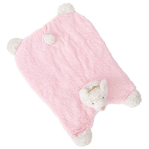 Price comparison product image Mud Pie Princess Plush Bear Tummy Time Play Mat,  White / Pink