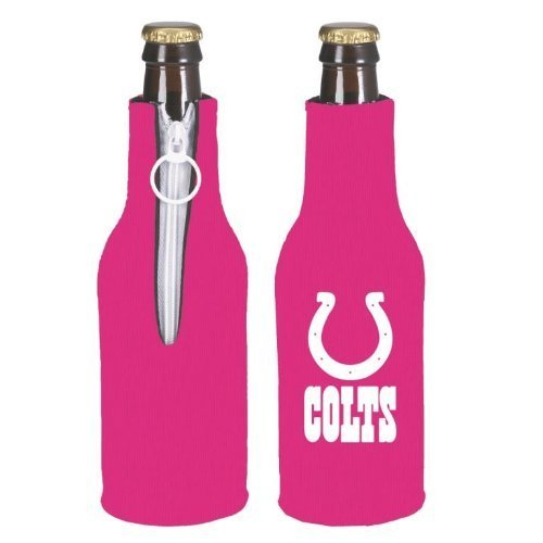 NFL Football Womens Hot Pink Bottle Suit Koozie Holder 2-Pack - Pick Team! (Indianapolis Colts)