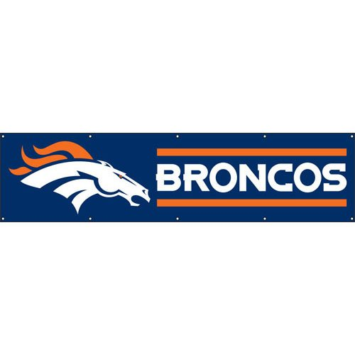 Party Animal Denver Broncos NFL Applique & Embroidered Party Banner (96x24