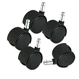 Master Caster - Deluxe Duet Casters 100 Lbs./Caster Polyurethane B And K Stems Soft 5/Set \