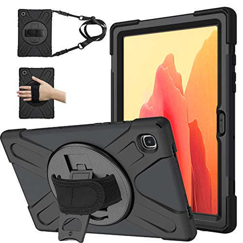 Samsung Galaxy Tab A7 10.4 Inch 2020 Case, Heavy Duty Rugged Shockproof Drop Protection Case with 360 Stand, Handle Hand Strap & Shoulder Strap for Galaxy Tab A7 10.4 Inch SM-T500/T505/T507