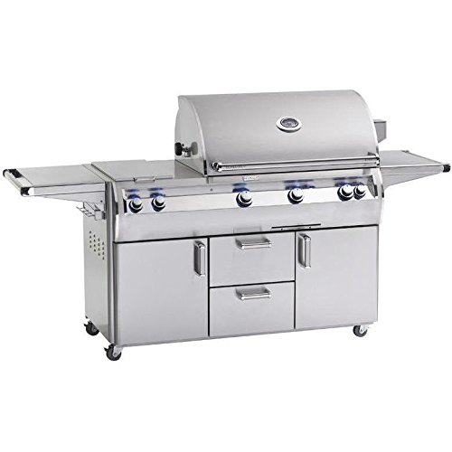(Fire Magic Echelon Diamond E790s A Series Propane Gas Bbq Grill With One Infrared Burner And Double Side Burner On Cart)
