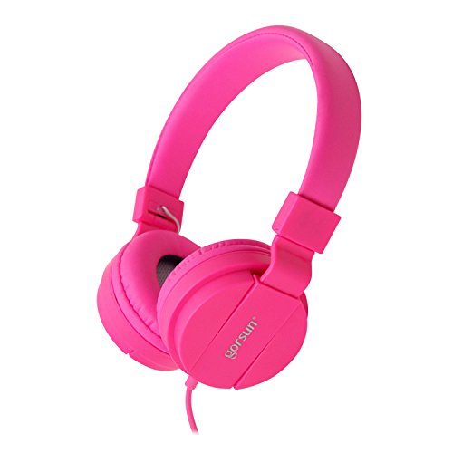 ONTA gorsun Foldable On Ear Audio Adjustable Lightweight Headphone for kids Cellphones Smartphones Iphone Laptop Computer Mp3/4 Earphones (pink)