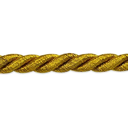 1//4-Inch Expo International 20-Yard Noel Twisted Cord Trim Embellishment Antique Gold