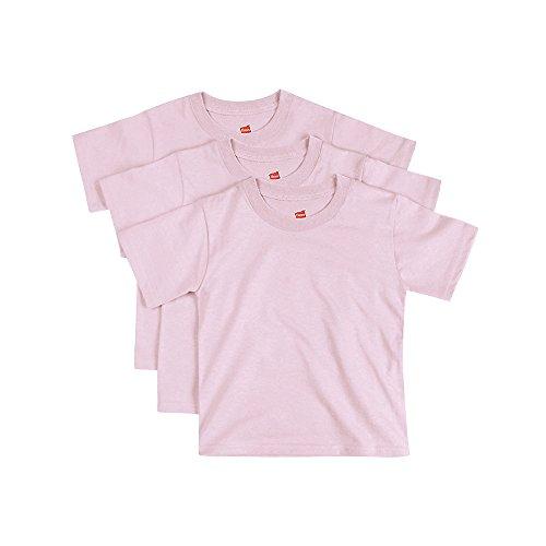 Hanes ComfortSoft Toddler Crewneck T-Shirt 3-Pack Pale Pink