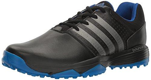 adidas Men's 360 Traxion Cblack/Dksimt Golf Shoe, Black, 11 M US