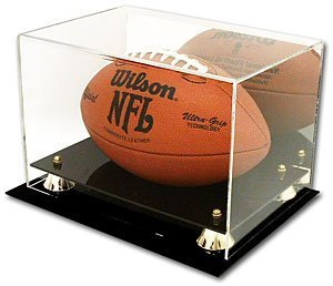Deluxe Acrylic Full Size Football Display Case with Mirror & UV Protection