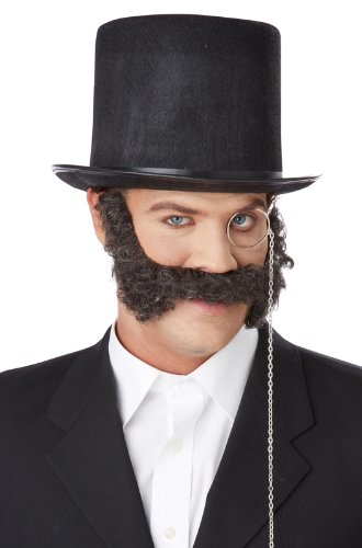 (California Costumes Men's 19Th Century Mutton Chops, Dark Brown, One)