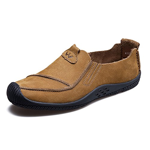 HUMGFENG Mens Lightweight Casual Walking Loafers - Fashionable and Comfortable Khaki 0t2u4cY