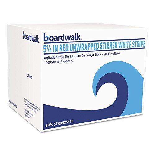 Boardwalk STRU525S10 Unwrapped Single-Tube Stir-Straws, 5 1/4