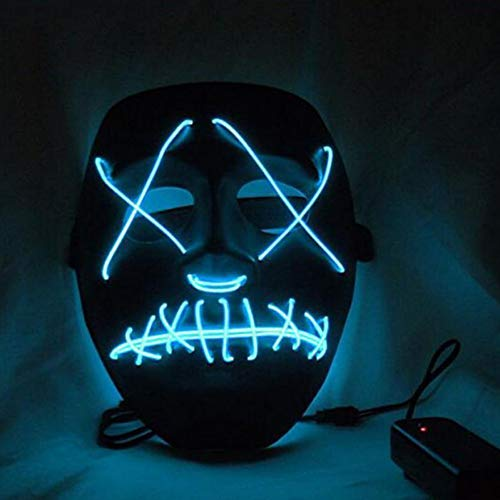 Smartcoco Frightening Halloween Cosplay LED Light up Mask for Festival Party Halloween Costumes ()