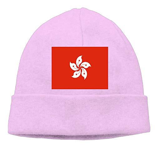 CHAN03 Hong Kong Flag Beanies Hats Unisex Winter Sports Caps