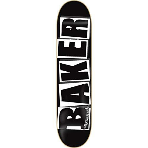 Baker Skateboards Brand Logo Black / White Skateboard Deck - 8