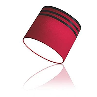 "EzClipse Magnetic Drum Shade, Red/Black Stripe, 8.5""X8"""