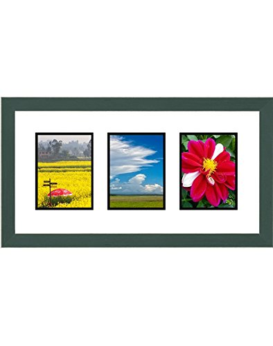 (Frames by Mail Triple Square Opening Collage Frame for 3.5