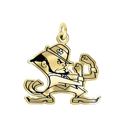 Notre Dame Fighting Irish 14k Yellow Gold Cut Out Logo College Charm (3/4