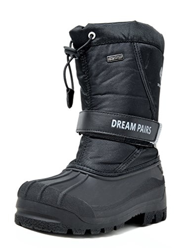 DREAM PAIRS Big Kid Kamick Black Mid Calf Waterproof Winter Snow Boots Size 6 M US Big Kid