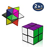 Magic Star Cube,SHONCO 2 in 1 Combo Infinity Cube Toy Transforming Geometric Puzzle 3D Assembly Fidget Stress Anxiety Relief Magic Puzzle Cubes for Kids and Adults