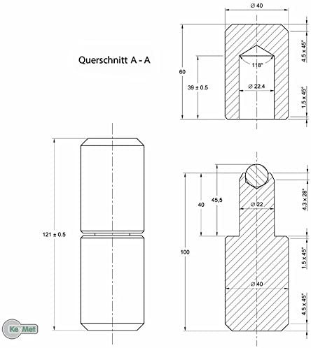Anschweißbandrollen Torband Anschweissband 60 mm Ø 16 auf Kugeln SET 2 Stk