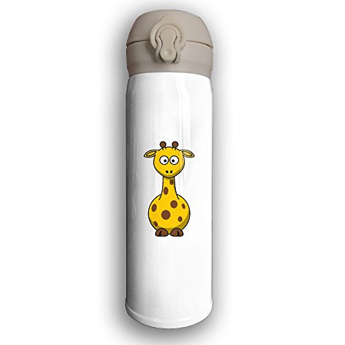 Shel Silverstein Halloween Costume (Personalized Giraffe Thermos Drinkware Stainless Steel Sports Water Bottle - Metallic Finish With Sport Cap For Outdoor And Sport Activities, 16-Ounce, White)