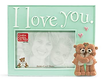 4x6 i love you photo frame by gund