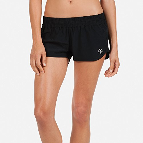 Volcom Juniors Simply Solid 2-Inch Boardshort,Black,Medium