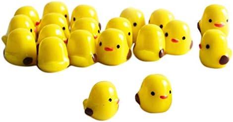Hellery 20 Lot kuikens decoratief voor kunsthandwerk ornament geel