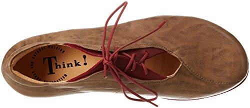 Marrón Zapatos Mujer Cordones Macchiato Menscha para 25 Think 282074 de Derby Kombi 8xZwwf1q