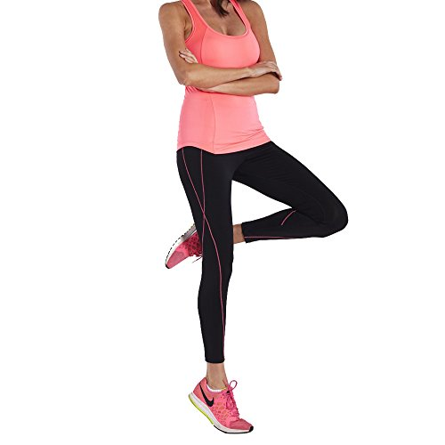 ZOANO Yoga Tops Workouts Clothes Activewear Built in Bra Tank Tops for Women Coral (Cheap Bridesmaid Tank Tops)