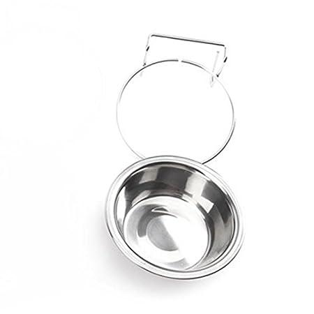 attachmenttou Bol d'alimentation en eau alimentaire S / M pour cage de chien Crochet accroché Acier inoxydable Kicode