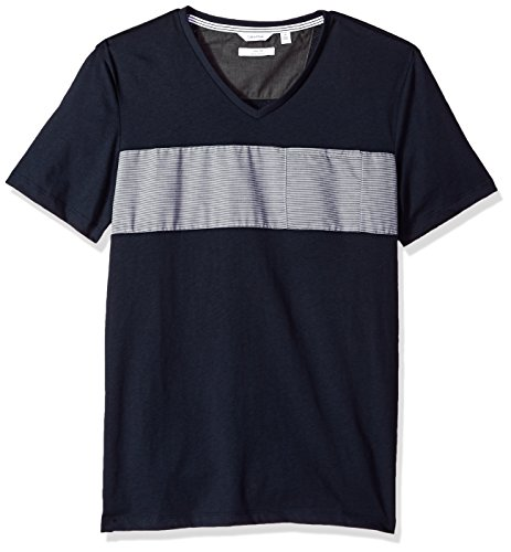 hort Sleeve V-Neck Cotton T-Shirt, Sky Captain Combo, Medium ()