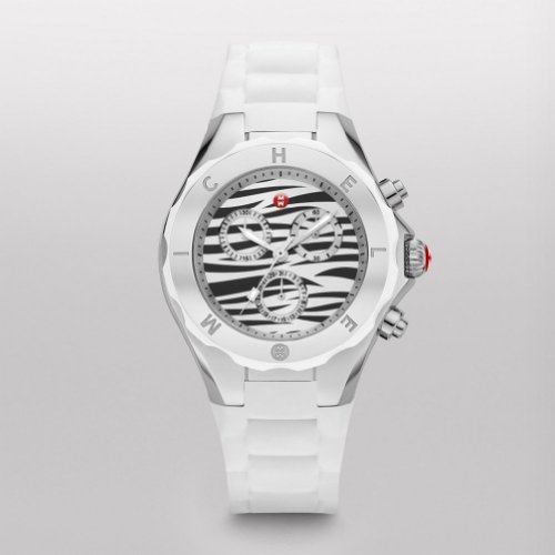 MICHELE Tahitian Jelly Bean, White Zebra Dial - Michele Tahitian Jelly Bean