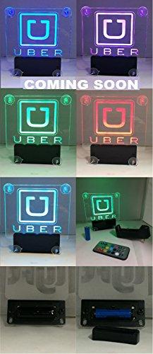 uber old logo led sign rideshare led sign car sign with no cord led blue 3 suction cops. Black Bedroom Furniture Sets. Home Design Ideas