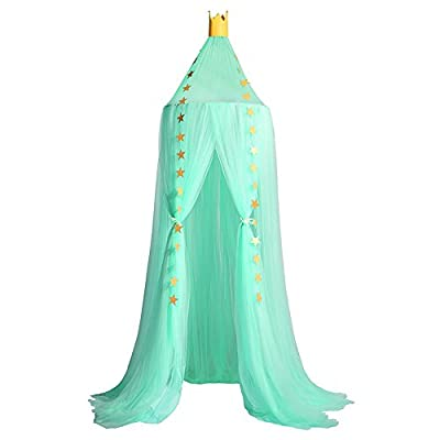 Wenyujh Mosquito Net Canopy, Dome Princess Bed Canopy Kids Play Tent Mosquito Net Children's Room Decorate for Baby Kids Indoor Outdoor Playing Reading