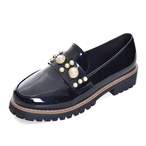 Women Oxfords Fashion Patent Leather Oxfords Shoes Casual Slip-On Low Heel Shoes Low Top Oxfords by Slduv7 (Image #1)