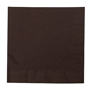 Chocolate Brown Luncheon Napkins Package of