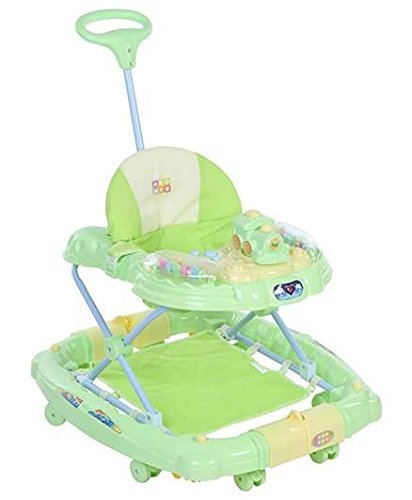 Mee Mee 2 in 1 Baby Walker with Rocker and Stopper (Green)