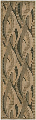 0154 Natural - Couristan 1562/0154 Recife Seagrass Natural/Black Runner Rug, 2-Feet 3-Inch by 11-Feet 9-Inch