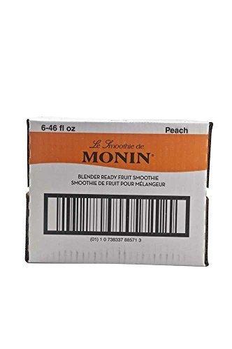 Monins Blender Ready Peach Fruit Smoothie Mix, 46 Ounce -- 6 per case. by Monins