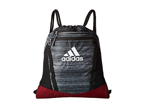 adidas Unisex Rumble II Sackpack Noise Black/Collegiate Burgundy/Black/White One Size