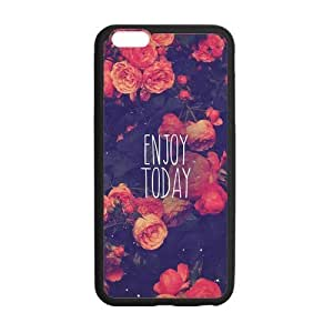 At-Baby Rose Pattern Quote Enjoy Today Fashion Style Iphone 6 Plus 5.5 inch Case (Laser Technology)